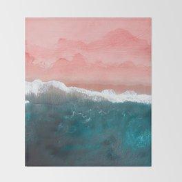 Turquoise Sea Pastel Beach II Throw Blanket