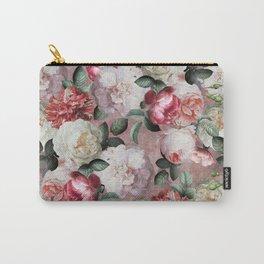 Vintage & Shabby Chic - Jan Davidsz. de Heem Roses On Mauve Carry-All Pouch
