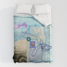a day by the sea Duvet Cover
