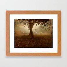 Urban Fog. Framed Art Print