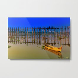 U-Bein Bridge Metal Print