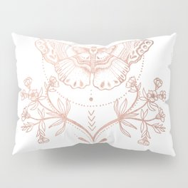 Magical Moth In Rose Gold Pillow Sham