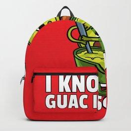 Avocado Guacamole Guac Vegan Dip Backpack