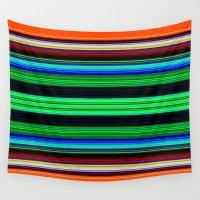 et Wall Tapestries featuring rouge et noir 5 by Sébastien BOUVIER