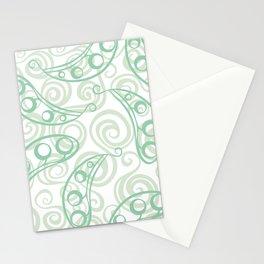 Pea pod seamless green pattern decor ornament Stationery Cards