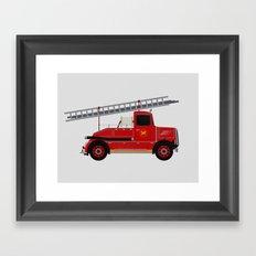 Vintage Fire Engine Framed Art Print