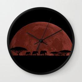 Elephant Moon Wall Clock