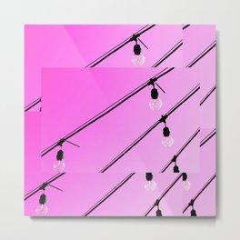 Pink Pop Art Fun Light Bulbs - Sharon Cummings Metal Print