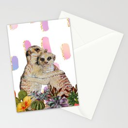meerkat, hug **new and improved** Stationery Cards