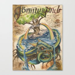 Jormungandr from the Field Guide to Dragons Canvas Print