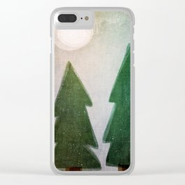 Forest nights Clear iPhone Case