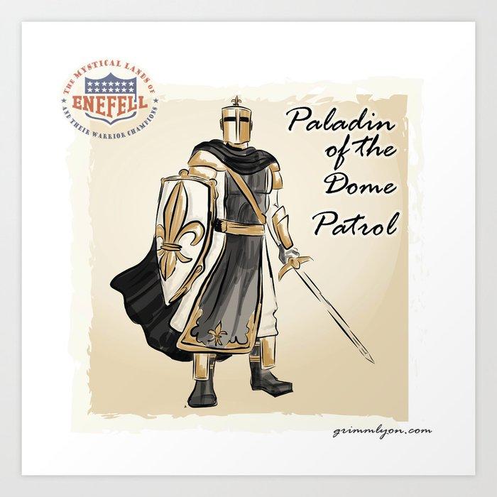 Paladin of the Sainted Lands Art Print