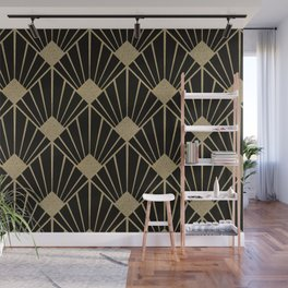 Black And Gold Art Deco Design Wall Mural