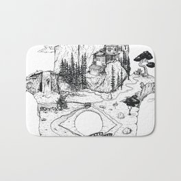 Hamsa in Nature Bath Mat