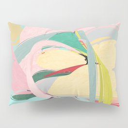 Shapes and Layers no.23 - Abstract Draper pink, green, blue, yellow Pillow Sham