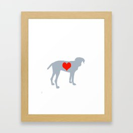 Weim Love Framed Art Print
