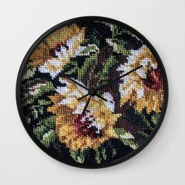 Sunflower Tapestry Wall Clock