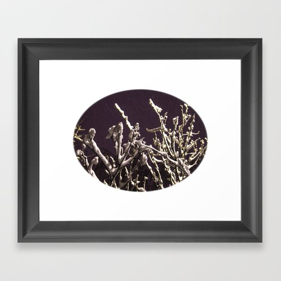 Saying goodbye to winter Framed Art Print