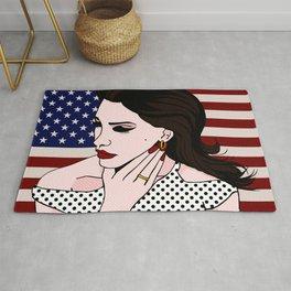 LanaDelRey Pop Art Portrait - Like An American Rug