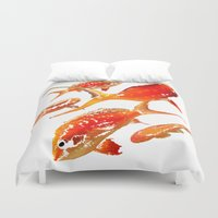goldfish Duvet Covers featuring Goldfish by Regan's World