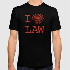 Law Lover Black Mens Fitted Tee MEDIUM