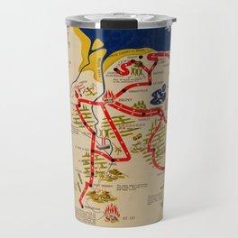 Vintage Omaha Beach D-Day Invasion Map (1945) Travel Mug