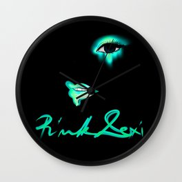 Pink Lexi Electric Teal Wall Clock