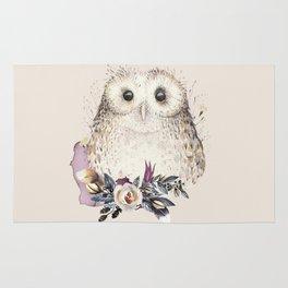 Boho Illustration- Be Wise Little Owl Rug