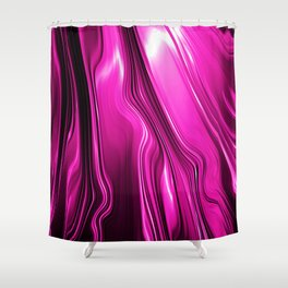 Streaming Pink Shower Curtain