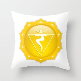 Solar Plexus Symbol Throw Pillow