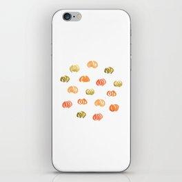 Pumpkins on White iPhone Skin