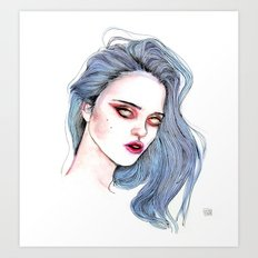 Sky Ferreira /  Blue  Art Print