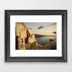 Tranquility of Santorini Framed Art Print