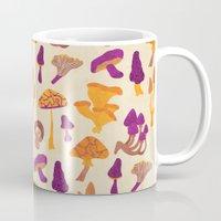 mushrooms Mugs featuring Mushrooms by Eine Kleine Design Studio