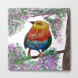 Bird on Tree Metal Print