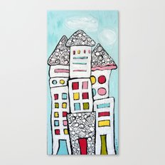 White Houses Canvas Print