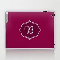 B Monogram Burgundy Laptop & iPad Skin