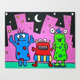 Monster Madness Canvas Print