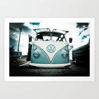 vw bus Art Prints featuring vw bus  by Aaron Joslin Photography