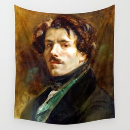 "Eugène Delacroix ""Self-portrait"" (1837) Wall Tapestry"