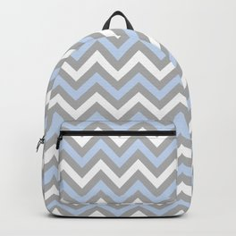 Chevron - light blue and grey Backpack