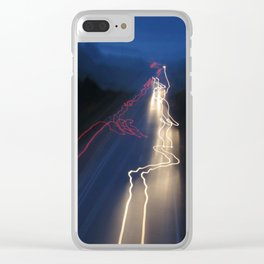 Whizzing Lights Clear iPhone Case