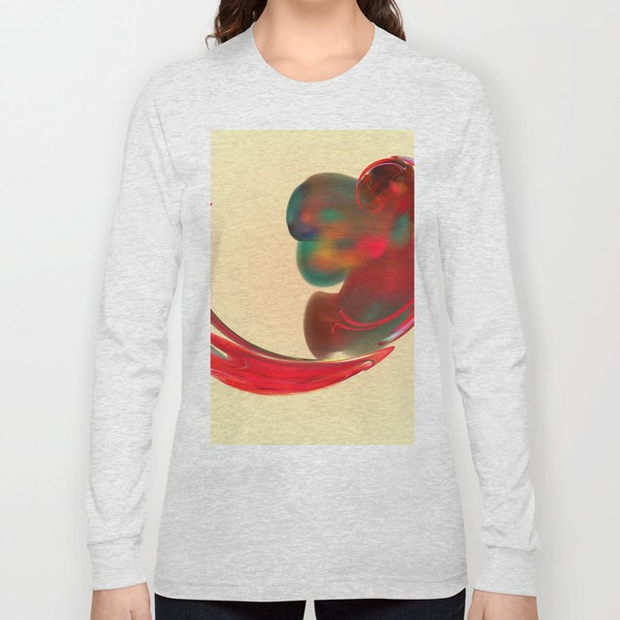 the red   (A7 B0131) Long Sleeve T-shirt