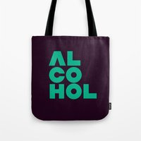 alcohol Tote Bags featuring Alcohol by Bálint Magyar