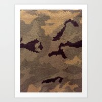 camo Art Prints featuring Camo by Sheena Mohammadi