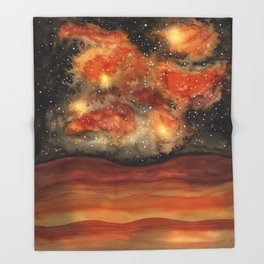 Beautiful Galaxy II Throw Blanket