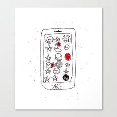 My space phone Canvas Print