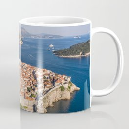Aerial view of Dubrovnik old town Coffee Mug