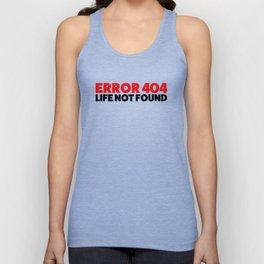 Error 404 Unisex Tank Top