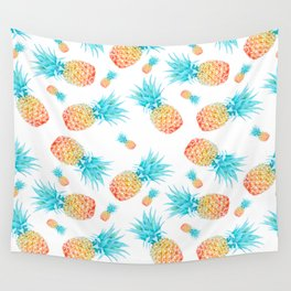 Tropical Fruit Pineapple Pattern Wall Tapestry